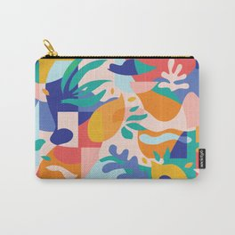 Amalfi Abstraction Pattern / Colourful Modern Shapes Carry-All Pouch