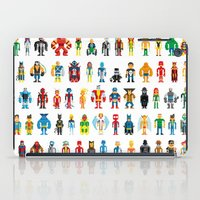 heroes iPad Cases featuring Pixel Heroes by Pahito
