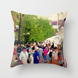 Art Patrons Throw Pillow