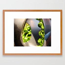 Metal and Grass Framed Art Print