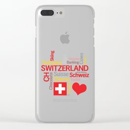 My Favorite Swiss Things Clear iPhone Case