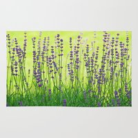 lavender Area & Throw Rugs featuring Lavender by Tanja Riedel
