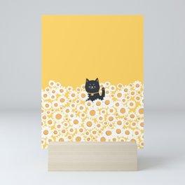 Hidden cat 23 hello annyeong Mini Art Print
