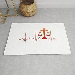 LAWYER HEARTBEAT Rug