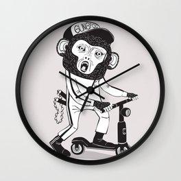 Gung Foo Chimp Wall Clock