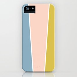 Retro Spring Color Block iPhone Case