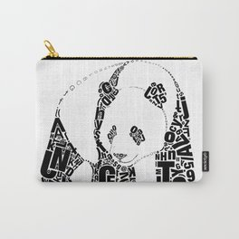 Typographic Panda Carry-All Pouch