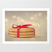 cookies Art Prints featuring cookies by El Diván Azul {Beatriz}