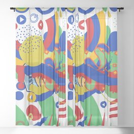 Whirling colors Sheer Curtain