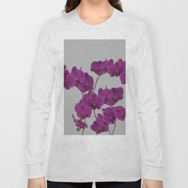 Orchid Pink Flower Long Sleeve T-shirt