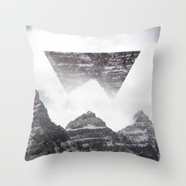 Puzzle in Mountain Throw Pillow