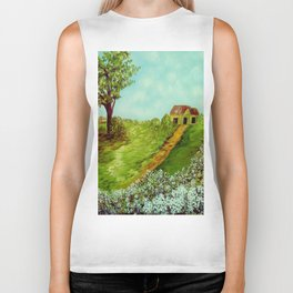 Cotton on a Cloudy Day Biker Tank