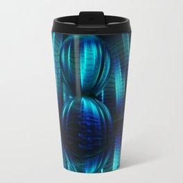 Abstract Glass Ball Travel Mug