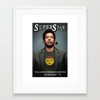 robert downey jr Framed Art Prints featuring Robert Downey Jr. by Andrew Sebastian Kwan