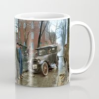 washington Mugs featuring Rainy Day, Washington, D.C. by Brown Eyed Lady
