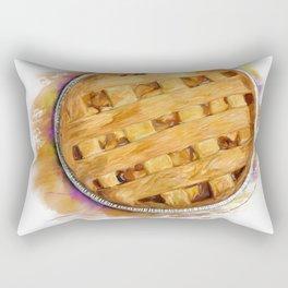 Digital Painting of  Apple Pie , top view Rectangular Pillow