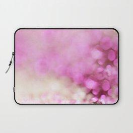 Pink and white shiny glitter effect print - Sparkle Valentine Backdrop Laptop Sleeve