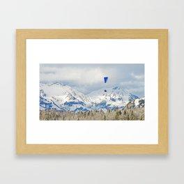 Over the white mountain in Kandersteg Switzerland Framed Art Print
