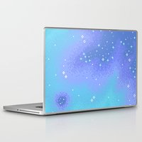 8bit Laptop & iPad Skins featuring Twilight Nebula (8bit) by Sarajea