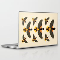 baltimore Laptop & iPad Skins featuring Baltimore Oriole  by Alysha Dawn