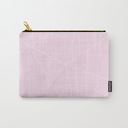 White On Pink Carry-All Pouch
