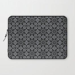 Sharkskin Floral Pattern Laptop Sleeve