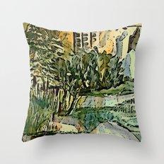 The Gardeners House Throw Pillow