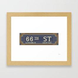 66 Street - Lincoln Center Framed Art Print