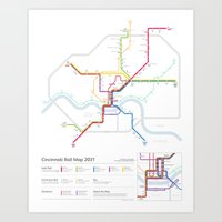 Cincinnati Rail Map 2031 Art Print