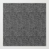 Hand Knit Dark Grey Canvas Print