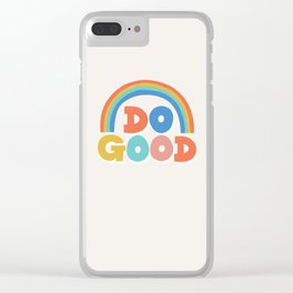 Do Good Typographic Print Clear iPhone Case