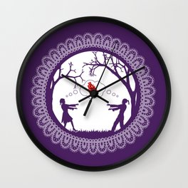 Love Undead Purple Wall Clock