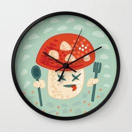 Funny Cartoon Poisoned Mushroom Wall Clock