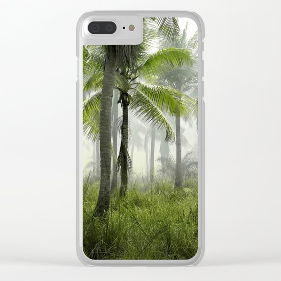 Foggy Palm Forest Clear iPhone Case