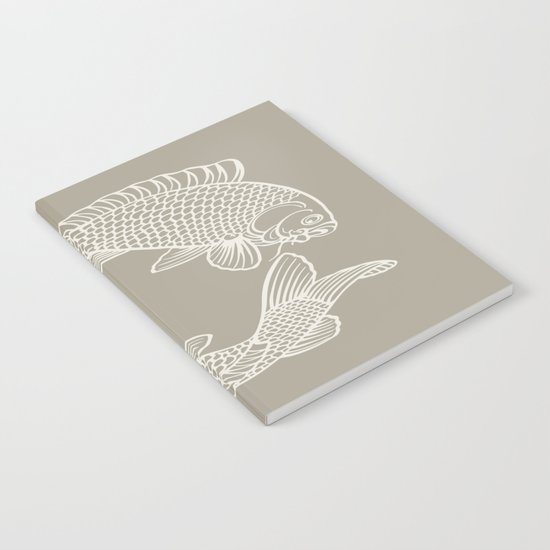 Koi Alabaster Blue Gray Notebook