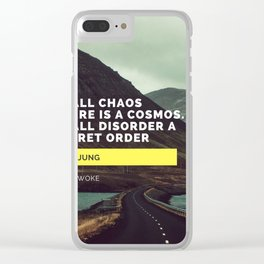 Carl Jung Order Chaos Clear iPhone Case