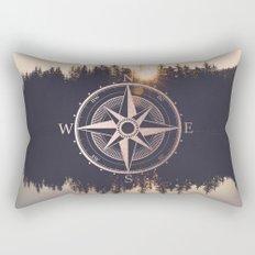 Rose Gold Compass Forest Rectangular Pillow