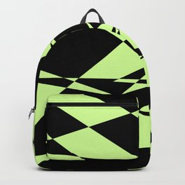 Lime And Black Puzzle Art Backpack