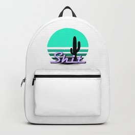 Neon Sunsets: Shit and Saguaro Cactus Backpack