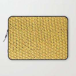 Seed Stitch Yellow Laptop Sleeve