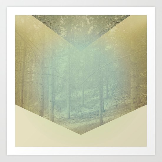 Chevron Forest Art Print