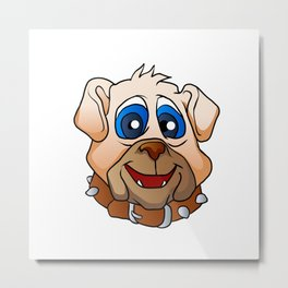 bulldog face. Metal Print