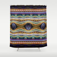 stripe Shower Curtains featuring stripe by Antracit