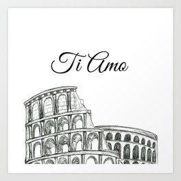 Roman Colosseum Print Art Print
