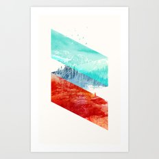 Mountain Stripes Art Print