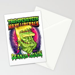 Trumpenstein Make Liberals Scared Again Trump Halloween Meme Stationery Cards
