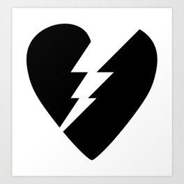 Broken Heart Art Print
