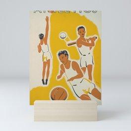 Vintage athletics poster Mini Art Print