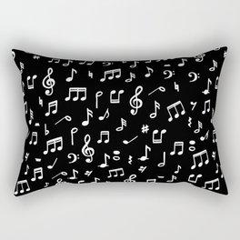 Music notes in black background Rectangular Pillow