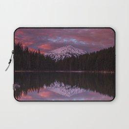Mt. Bachelor sunrise reflection Laptop Sleeve